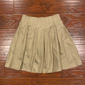 •BEBE• Gold Pleated Skirt